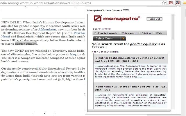 Manupatra Connect
