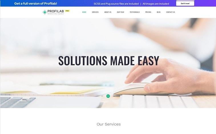 лучший бесплатный шаблон темы ботстрапа веб-сайт бизнес-решение корпоративная фирма