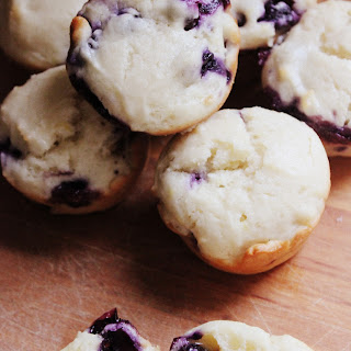 Lemon Blueberry Muffins with Greek Yogurt & Coconut Oil.