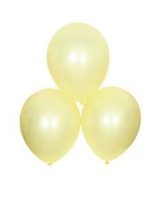 Satinballonger, gula 6 st