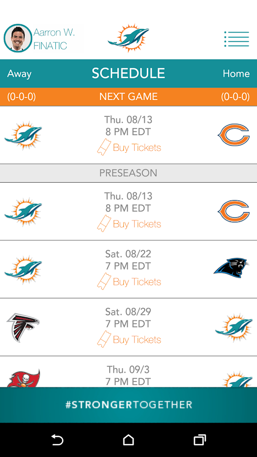 Official Miami Dolphins- screenshot