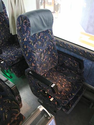 名鉄バス「名古屋~新潟線」 2801 シート