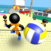 Stickman Beach Volleyball
