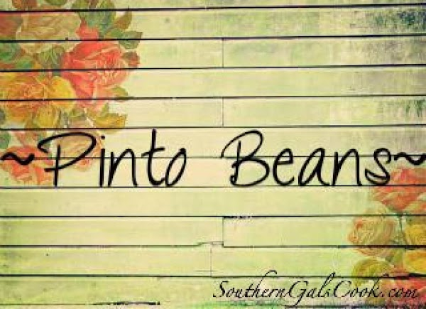 Southern Pinto Beans Recipe