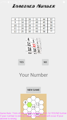Imagined Number Game