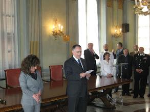 Photo: Claudio Sammaritno, Prefetto di Savona con la segretaria e le Autorità intervenute alla cerimonia