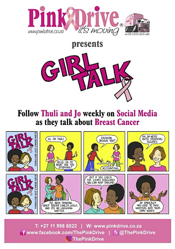 Put in the picture: PinkDrive is a breast cancer education and awareness campaign, which was launched in 2009. The new initiative is a comic, Girl Talk, that deals with cancer in an educational but humorous and upbeat way. Picture: SUPPLIED