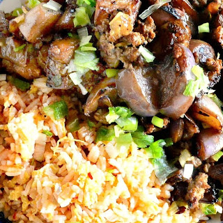 Chinese Eggplant with Pork and Garlic.