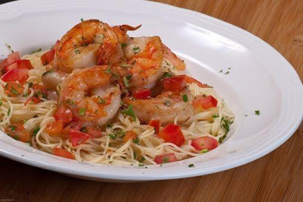 Broiled Shrimp W/fresh Tomatoes Recipe