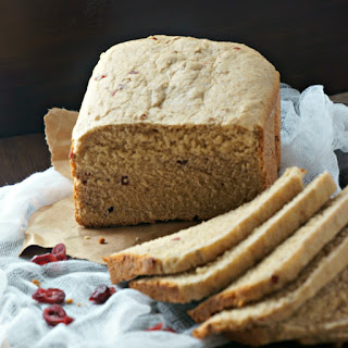 Easy Whole Wheat Cranberry Walnut Bread.