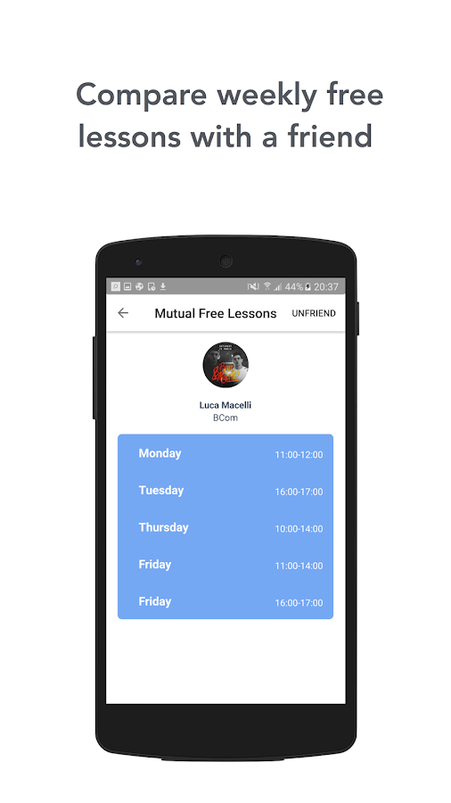 FreeHour - Shared Timetable- screenshot