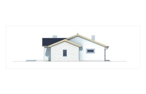 Agat wersja B dach 32 stopnie - Elewacja lewa