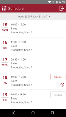 R&R job app - screenshot