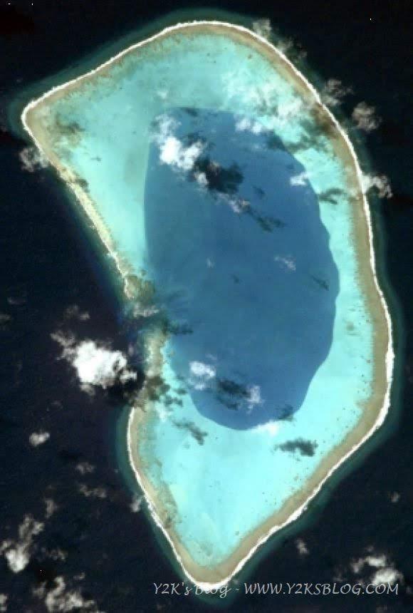 L'unica immagine satellitare decente di Beveridge Reef è della NASA!