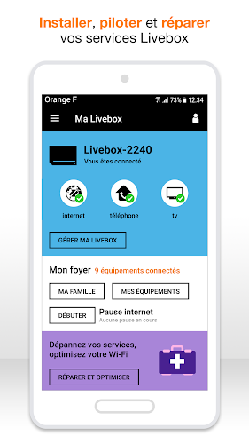 Ma Livebox Android App Screenshot