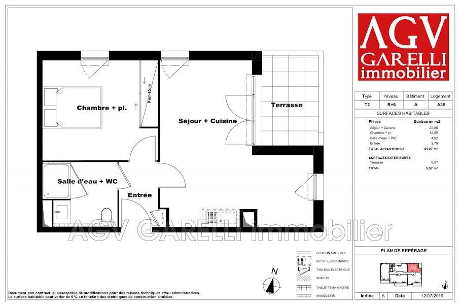 Vente appartement 2 pièces 41.07 m² à Marseille 12ème (13012), 184 625 €