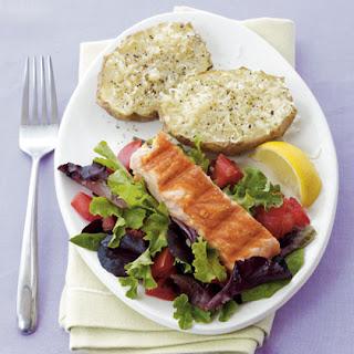 Skillet Salmon & Parmesan Potatoes