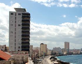 Photo: view of buildings along the malecon in havana. tracey eaton photo.