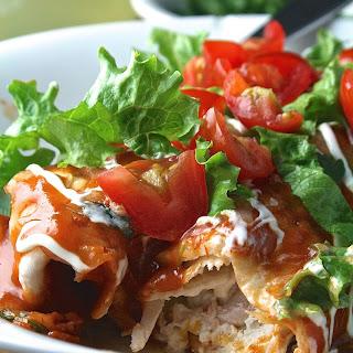 Sour Cream and Chicken Enchiladas Recipe
