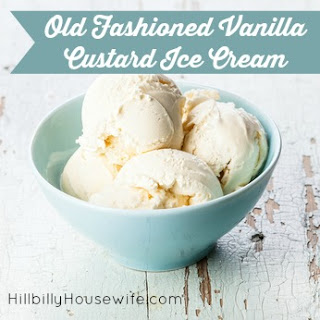 Old Fashioned Vanilla Custard Ice Cream.