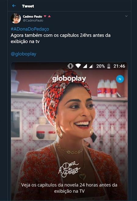 GloboPlay anuncia capítulo inédito de 'A Dona do Pedaço', mas não exibe