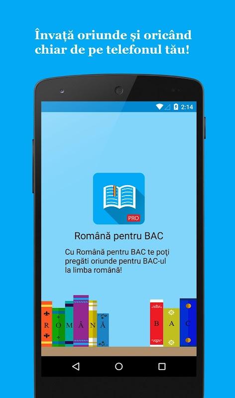 Romana pentru BAC PRO APK 1 2 2 Download - Free Education APK Download