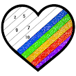 Adult Glitter Color by Number Book - Sandbox Pages