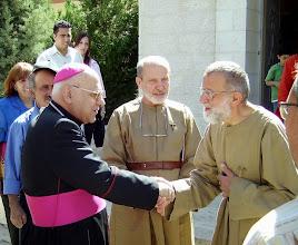 Photo: il patriarca michel sabbah saluta anastasio 2008