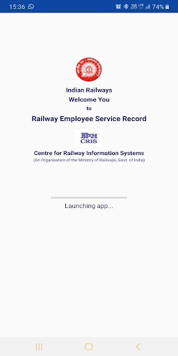 HRMS Employee Mobile App for Indian Railways screenshot 1