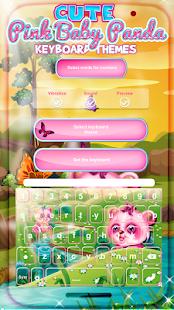 Cute Pink Baby Panda Keyboard Themes - náhled