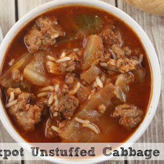 Crockpot Unstuffed Cabbage Rolls Soup.