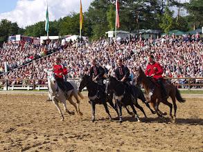 Photo: Kosakenreiter bei der Hengstparade Moritzburg