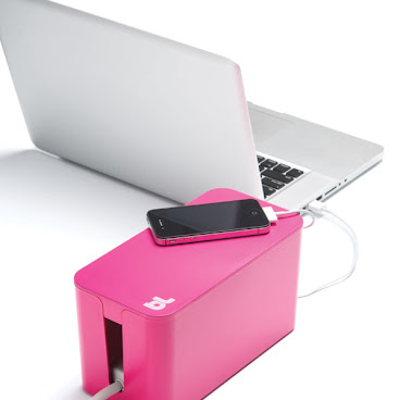 BlueLounge 電線/電拖板收納盒(細) - 粉紅色