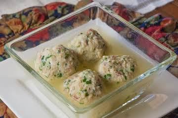 Chicken Dumplings Simmered in Broth
