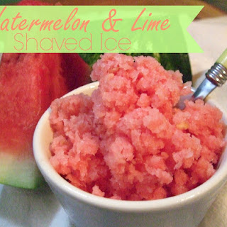 Watermelon & Lime Shaved Ice.