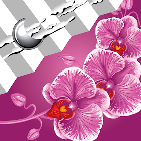 часы виджет орхидеями