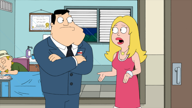 Photo: AMERICAN DAD: Stan discovers that Francine was unfaithful and that Hayley may not be his biological daughter in the all-new ÒThe Kidney Stays In The PictureÓ episode of AMERICAN DAD airing Sunday, April 1 (9:30-10:00 PM ET/PT) on FOX.  AMERICAN DAD ª and © 2012 TCFFC ALL RIGHTS RESERVED.