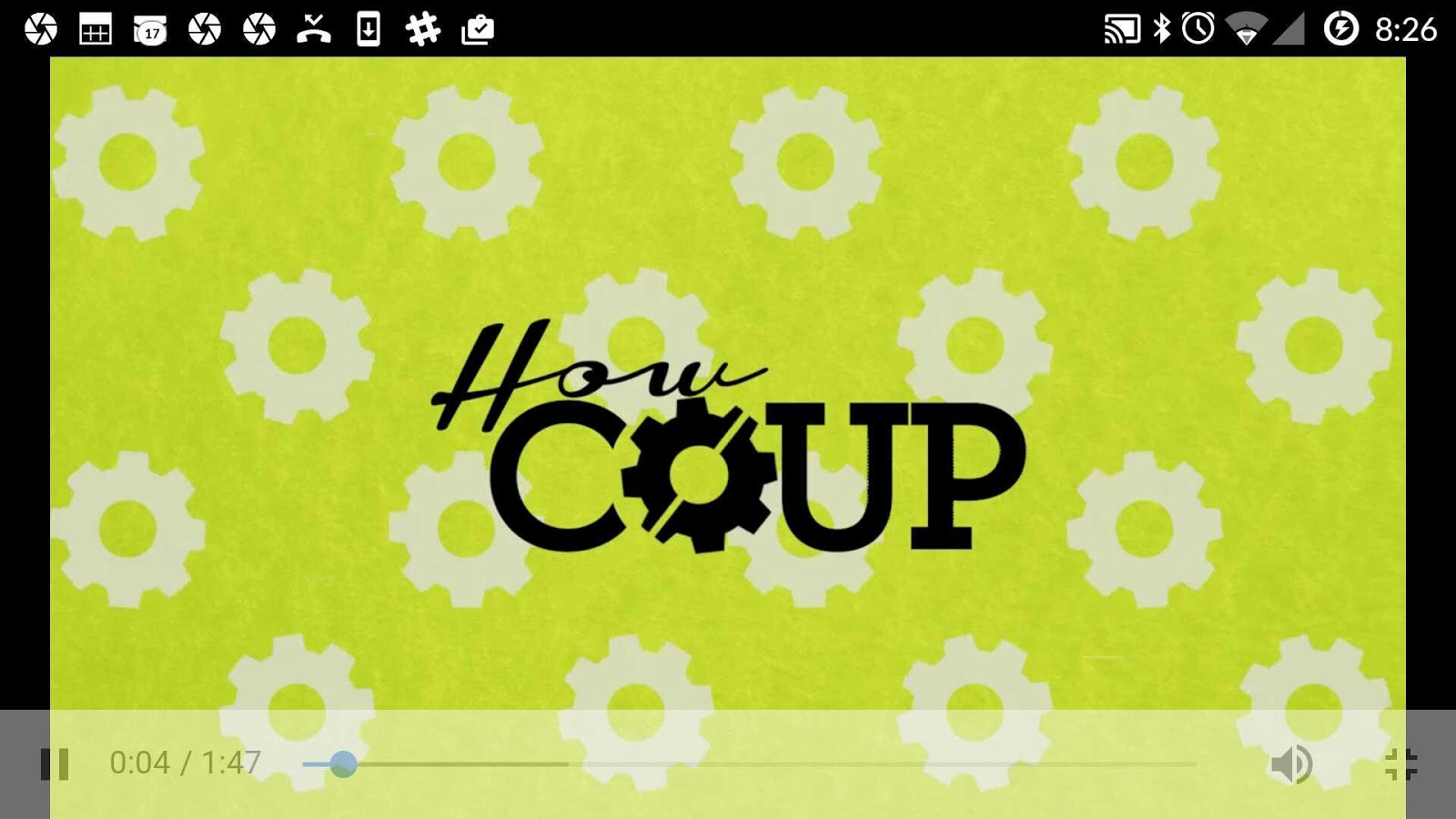 The COUP Companion App- screenshot