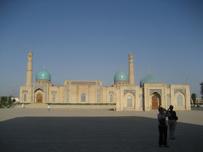 Photo: Tashkent - Mosque & library (earliest Koran)