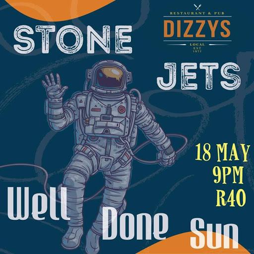 Stone Jets & Well Done Sun at Dizzys' : Dizzys Camps Bay