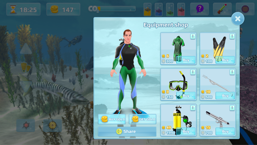 Hunter underwater spearfishing screenshots 3
