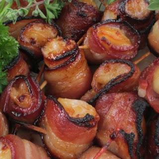 Teriyaki Bacon Wrapped Scallops.