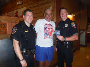 Photo: Sioux Falls SD : Dale with Brandon SD police officers