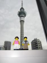 Photo: Por fin en Auckland. Al fondo la Sky Tower