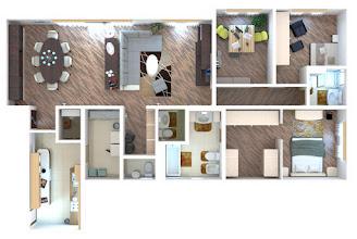 Photo: Family house 3d visualization layout