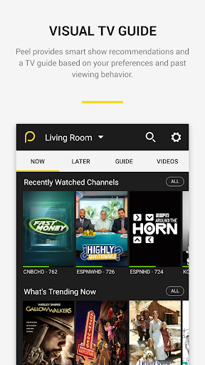 Peel Smart Remote TV Guide screenshot 2