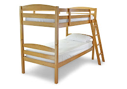 Solid modern Wooden Bunk Bed in an Antique Pine Finish