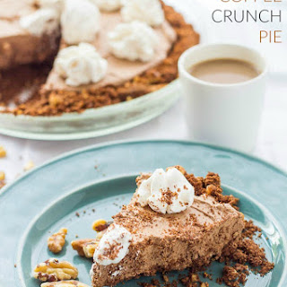 Chocolate Coffee Crunch Pie