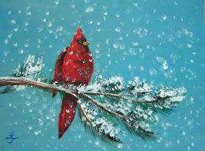 Photo: Christmas painting