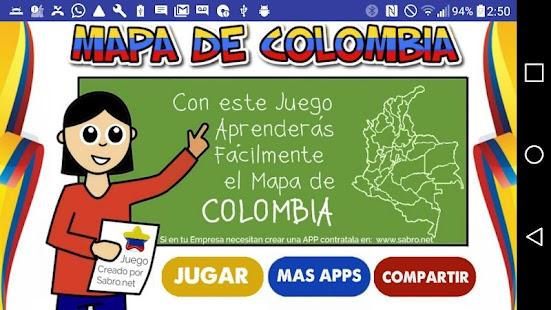 Mapa de Colombia Juego - náhled